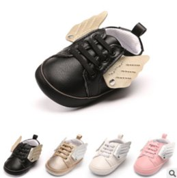 Wholesale Newborn Wings - Hot sale!CX56 New Arrivel Fashion PU Leather Newborn Baby Shoes Infant Toddler Boy Girl Angel Wings Shoes First Walkers Shoes.