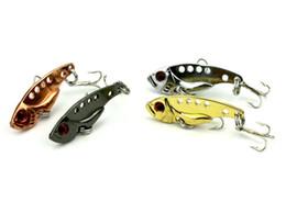 4pc / set Tool Señuelos de pesca Kits Duros SEÑUELOS ARTIFICIALES MINNOW SEÑUELOS DE PESCA Set Steel VIB Blade Fish Bait desde fabricantes