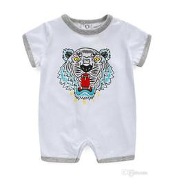sommerkleider junge Rabatt Baby Body Sommer Schöne Tiger Print Mädchen Kleidung Babys Junge Kleidung Mode Baby Kleider Neugeborenes Baby Kleidung Säuglingsoverall Strampler