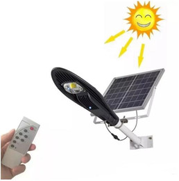 Wholesale Solar Powered Remote - led Solar Remote control Solar Panel Powered road light ip65 20W 30W LED Street Light Outdoor Garden Path Spot Wall Emergency street Lamp