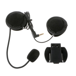 Wholesale earphone jack accessories - Motorcycle Earphone Speaker Intercom Accessories 3.5mm Jack Plug &Clip For V4 V6