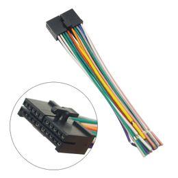Wholesale radio wire harness - LEEWA 20Pin refit Universal Aftermarket Car Head Unit DVD Stereo Radio Wiring Harness Cable Plug #2326