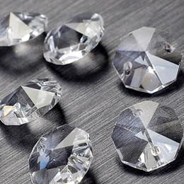2019 14-миллиметровые кристаллические восьмиугольники Массовая 100 Шт. / Лот 14 мм 2 отверстия Кристалл Восьмиугольник Бисер Призма Люстра Кристалл дешево 14-миллиметровые кристаллические восьмиугольники