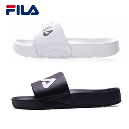 Wholesale Slippers - 2018 Fila Slippers DRIFTER Drifting Series Men women Sports casual shoes Black White Red beach sandals slippers Light slippers eur 36-44