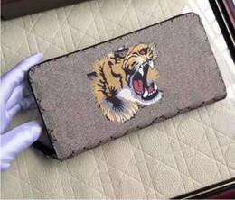 Wholesale elegant purses - Luxury Brand Women Men Animal pattern Long Zipper Wallet Purse Fashion Gifts Elegant Lady Wallets Card Holders