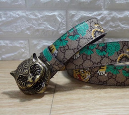 Wholesale Tiger Belt Buckles - 2018 Hot Luxury High Quality ceinture Designer Belts Fashion Tiger animal pattern buckle belt mens womens belt for gift
