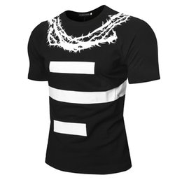 Wholesale cane top - Mens High Street Cane Vine Printed Casual Tshirts Mens Crew Neck Tees Male Short Sleeve Tops Free Shipping