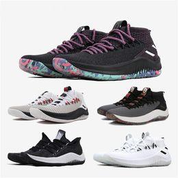 big sale 006d0 e17b2 Súper corte medio calcetín para hombre negro blanco Dame Lillard4 zapatos  CQ0469 Light Brown AC6911 Knit Running zapatillas deportivas de calidad  superior ...