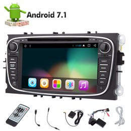 Wholesale galaxies video - Eincar Android 7.1 7'' Double Din Car dvd Stereo Radio Octa Core Bluetooth GPS Navigation For Ford S-max 2008-2012 Focus 2008-2010 Galaxy