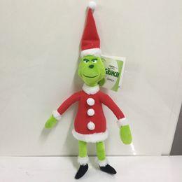 Canada Vente chaude 18cm 28cm 38cm Comment le Grinch a volé des poupées en peluche de Noël 2018 New Cartoon Green Grinch Figurine Jouets Enfants cadeau Offre