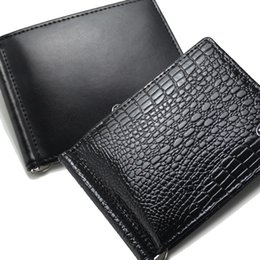 Wholesale synthetic leather case - 2018 Luxury popular the fashion business MB genuine leather wallets case bag credit card holder men's black classic credit holders