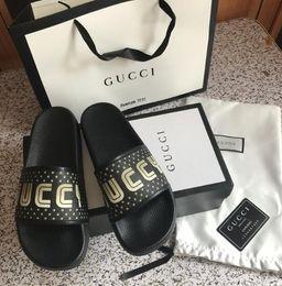 3c6963f5ab59 Top Quality Luxury Brand Designer Men Summer Sandals Beach Slide Fashion  Slippers Indoor Shoes Tiger flip flop Flowers Snake Size EUR 35-45