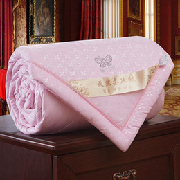 Wholesale Full Quilts - Wholesale- Newest High Quality 1pc Soft Comfortable Air Condition Quilt Home Textiles Gift Natural Silk Warm Quilt Core Special Sale