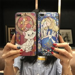 Wholesale drop shipping phone cases - For iPhone8 8 plus   6s two-in-one Relief Cartoon Painting Patterns All-inclusive drop-resistant soft shell matte Cell Phone Cases DHL ship