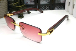 083aaa3fbe5cb frankreich sonnenbrille Rabatt Randlose Luxus Sonnenbrille Weiß Buffalo  Horn Brille Männer Frauen Sonnenbrillen für Frankreich Markendesigner