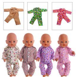 nouvelle poupée née Promotion Vêtements de poupée 9 styles de pyjama différents Pour poupée American Girl 18 pouces 43cm New Baby Born Zapf