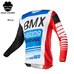 Wholesale cycling jersey gray - 2018 New Motocross Jersey Off Road T-shirt MTB DH Clothes Bicycle Cycling Jersey 9 Style Can Be Chioce