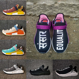 clearance fashion Style new arrival Originals PHARRELL WILLIAMS Jointly Hu MD Running Shoes Men Women MD Human Race trail Running Shoes Size 36-47 qBJQAm