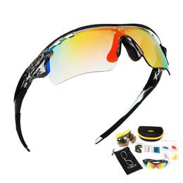 f0e3a5dbe58 Occhiali da ciclismo polarizzati Occhiali da sole bicicletta sport all aria  aperta per uomini Occhiali da sole Eyewear 5 Lens Frame miopia Spedizione  ...