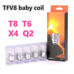 Wholesale Big Coil - 100% Top TFV8 BABY Beast Tank Coils Sub ohm X4 0.15ohm Q2 0.4ohm V8 Baby-T8 0.15ohm T6 0.2ohm