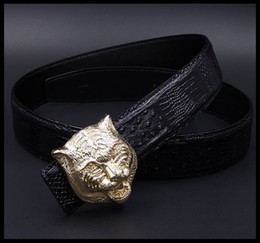 Wholesale Golden Pants - 2017 leather belt men's leather casual fashion south Korean pants belt business leather belt major devil wears manufacturer direct sale