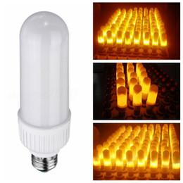 Wholesale 5w Led Bulb B22 - 5W 99pcs 2835SMD LED Flame Lamp E27 B22 1800K 3 Modes Flickering Flame Fire LED Light Bulb Corn Bulb 85-265V Decorative Flaming Lighting
