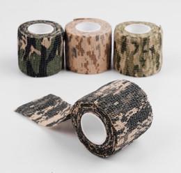 3 Rouleaux Autoadhésif Non-tissé Camouflage Ruban Furtif Imperméable Étirement Camping Chasse Pour Arme à Feu Caméra Emballage de Protection ? partir de fabricateur