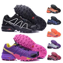 135715fb79bf01 Vente chaude 2019 Vitesse Cross 4 CS IV Femmes Chaussures Chaussures  Chaussures de training Noir Rose Pourpre Orang Bleu Foncé Extérieur  Randonnée Sneakers ...