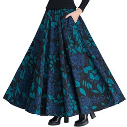 Vintage Wolle Röcke Frauen hohe Taille Jupe Druck Maxi langen Rock Faldas  Mujer Herbst Winter Woolen Faltenrock Saia C3850 rock wolle hohe taille im  Angebot 8420498471
