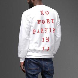 Wholesale paul hoodies - Hip Hop Kanye Pablo West I FEEL LIKE Paul Los Angeles NO MORE PARTIES IN LA Hoodies Men Women