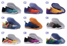 Wholesale Rubber Monkeys - 2018 High Quality Kobe 11th Generation Knit Elite Basketball Shoes Kobe 11 Red Horse Monkey KB 11 Sports Basketball Shoes Size 40-46