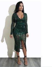Deutschland Chiffon-Kleid mit Pailletten sexy Unterwäsche Sexy Dessous, S M L XL Frauen NONE Ärmeln Clubwear Kleid Club Kleid Versorgung