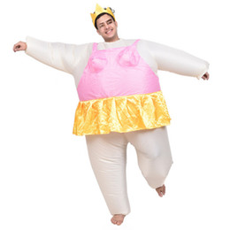Wholesale Mascot Funny - Newest Inflatable Ballet mascot Costume Halloween Party Funny Fat Man Fancy Animal For Adults With Free Shipping