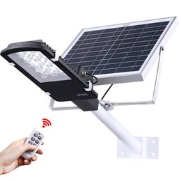 Wholesale Remote Solar Panel - Umlight1688 12 24 LED Solar Street Lights Outdoor Garden Path Wall Spotlights Solar Powered Panel LED Emergency Lights With Remote