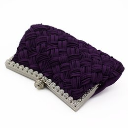 Discount leather handbag embossed - Elegant Women Clutch Evening Bag Wedding Party Fashion Handbags Chain Shoulder Bag Messenger Bags Box Metal Purse Top