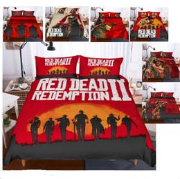 3D Red Dead Redemption 2 Design Bettwäsche Set 2 STÜCK 3 STÜCK Bettbezug Set Bettbezug Kissenbezug Twin Voll Königin King Size AU US GB Erwachsene von Fabrikanten