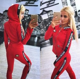 Wholesale womens casual sets pants - 2017Hot Sale Women's Tracksuits spring hoodies sweatshirts letter Print tracksuit women Long Pants Pullover Tops Womens set Women Sport Sui