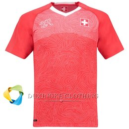 Wholesale Wholesale Switzerland - DHL free TOP THAI Quality 2018 Home world cup soccer Switzerland Jersey ACCEPT PRINT ANY NAME AND NUMBER 001