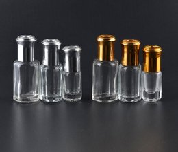 3ML 6ML 10ML Octagonal Glass Bottles With Roll On Aroma Bottles Metal Ball Perfume Essential Oil Packing Vials Refillable Case