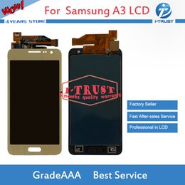 Wholesale Galaxy S3 Lcd Repair - NL 10PCS Wholesale AAA Quality LCD For Samsung Galaxy A3 2015 Display Best Repair Replacement Parts With Free DHL shipping