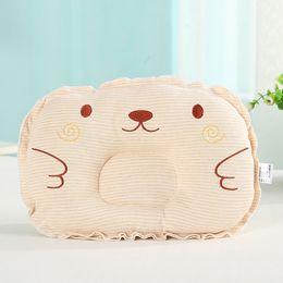 Wholesale Kids Head Pillow - Cartoon Baby Pillow Newborn Infant Support Cushion Pad Prevent Flat Head Positioner e Comfortable Cotton Kids Pillow 0-3Month