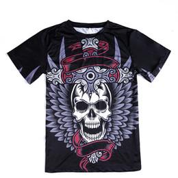 novia novio camisetas Rebajas Nueva Moda Skulls T-shirt Hombres / Mujeres 3d Camisetas Imprimir Metal Skulls Novia Novio Hip Hop T shirt Tops Tees Camisa
