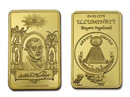 Argentina Envío gratis 5 unids / lote, masónica masónica masonería símbolo 24 K chapado en oro Bar Moneda conmemorativa Token Rara 1 oz ORO MASÓNICO supplier coin tokens Suministro