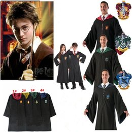 Harry Potter Robe Cloak Cape Cosplay Costume Kids Adults Unisex Gryffindor  school Uniform clothes Slytherin Hufflepuff Ravenclaw MMA721 50pc discount  harry ... ca97dc96afa1