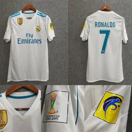 Wholesale Real Madrid Club - Free shipping 2017 2018 Club World Cup champions Real Madrid Soccer Jerseys Ronaldo ASENSIO ISCO Football shirts camiseta de fútbol