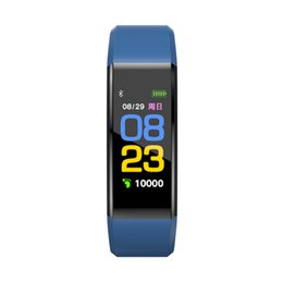 Wholesale monitor vehicle - Original Color LCD Screen ID115 Plus Smart Bracelet Fitness Tracker Pedometer Watch Band Heart Rate Blood Pressure Monitor Smart Wristband
