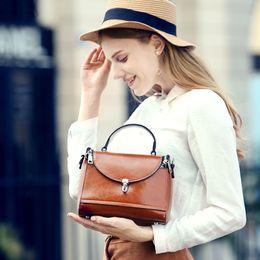 Wholesale Luxury Bag Summer - Women Brand Designer Handbags 2018 Hot New Spring Summer Female Genuine Leather Luxury Bags Women Messenger Bag Designer Shoulder Bags