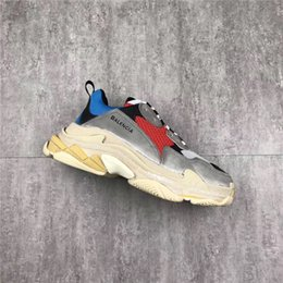 Wholesale Rubber S - 2018Balenciaga Triple S Speed Trainer Grey White Yellow Green Black Red Authentic Sneakers Running Shoes Sneakers Originals 2018 Bestsellers