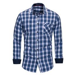 Wholesale iron man dress up - New 2018 Long Sleeve Men Dress Shirt Social Button-Up Patchwork Non-iron Slim Fit Men Casual Business Shirt