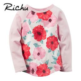 Wholesale Girl Character Costume - Richu full sleeve t-shirt girls baby kids tops bobo clothes for girls t 3d shirt children blouse flower toddler costume wholesale